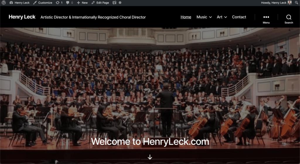 Henry Leck Website Screenshot